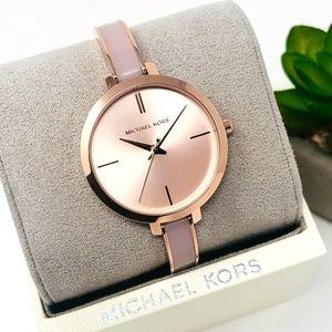 NWT Michael Kors Jaryn Rose Gold-tone Watch MK4343